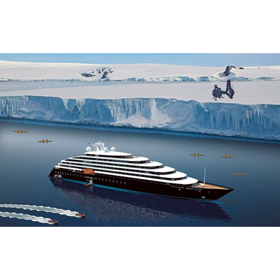 "Recreation of the ""Scenic Eclipse"" on a polar cruise. ©Oliver Design"