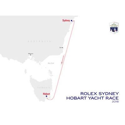 Rolex Sydney Hobart Yacht Race Course Map. Image: Courtesy Rolex Sydney Hobart Yacht Race.