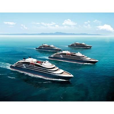 Four of the five ships Ponant has on order. (c) PONANT - STERLING DESIGN INTERNATIONAL