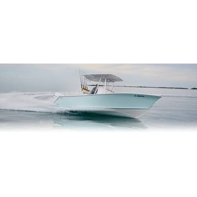 The Stuart Boatworks 27 was a gamechanger for Ocean5, on display first at the Miami International boat show this year. Image Courtesy Ocean 5 Naval Architects.